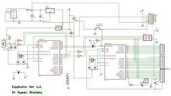 Принципиальная схема платы EGYDuino – 100% аналога Arduino