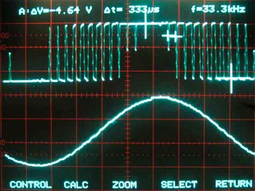 Осциллограмма DDS-генератора