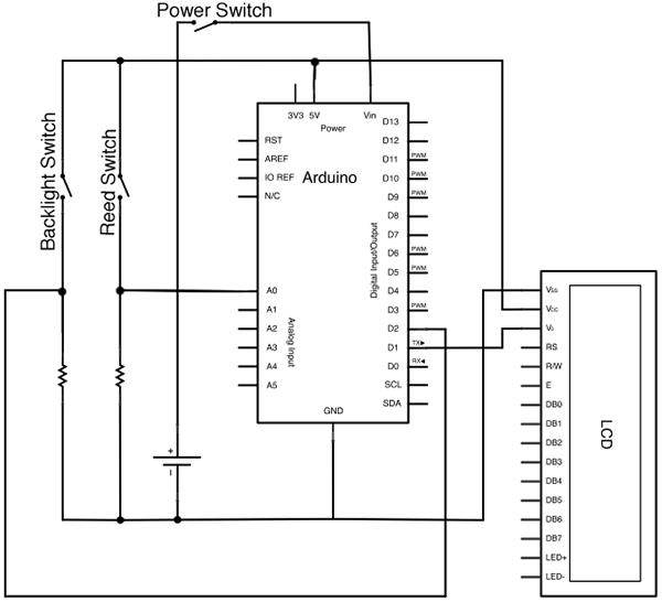 Схема велосипедного спидометра