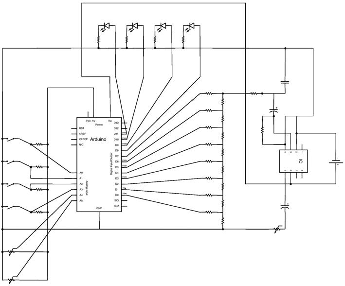 Схема подключения генератора сигналов на Arduino