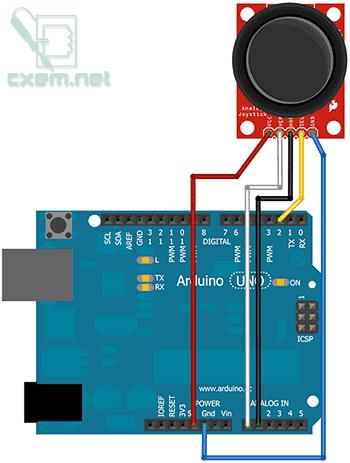 джойстика к Arduino