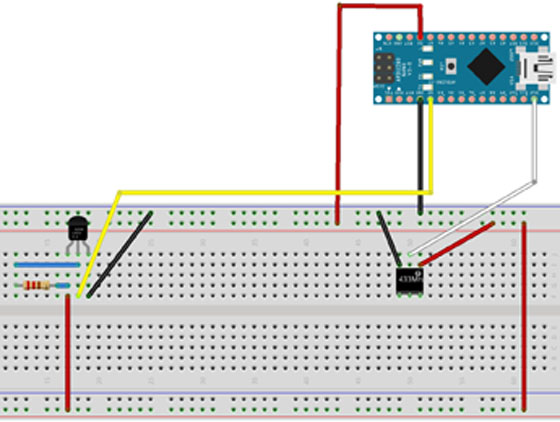Подключение датчика температуры, влажности и передатчика