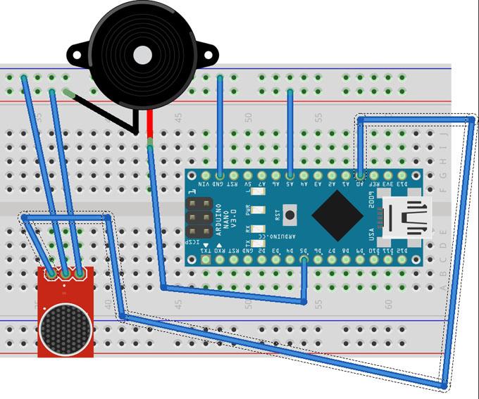 схема подключения MQ-2