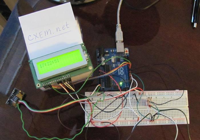 Внешний вид часов на Arduino