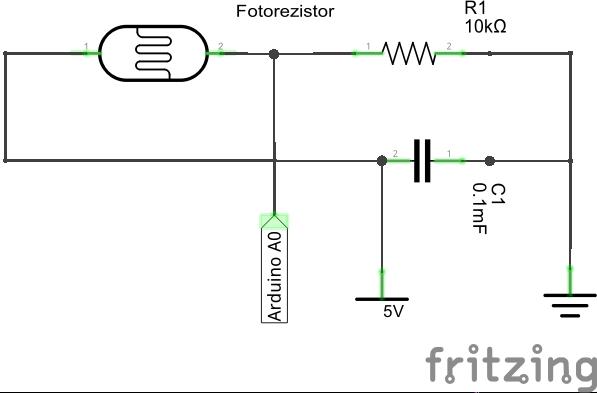 подключение фоторезистора