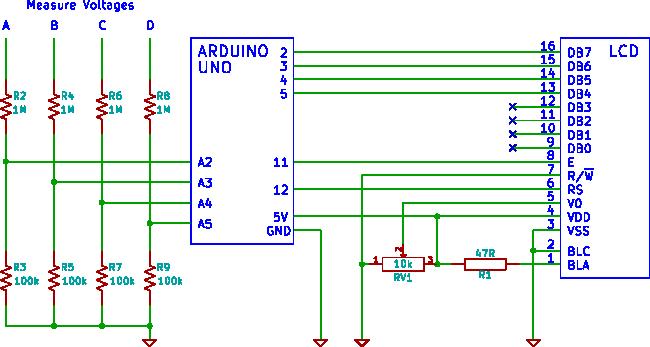 Электрическая схема вольтметра