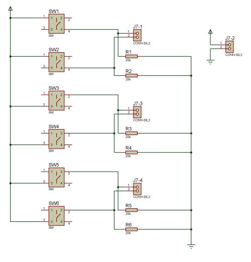 Схема 3, кнопки управления