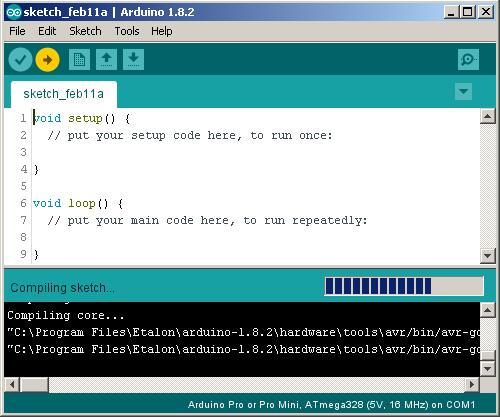 Загрузка программы в микроконтроллер
