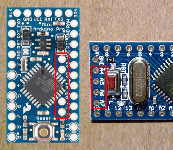 Arduino Pro Mini A4-A7