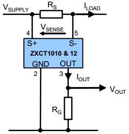 Схема подключения ZXCT1010 и ZXCT1012