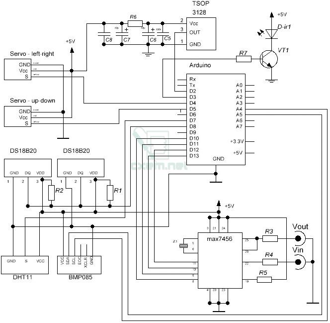 Схема устройства на max7456