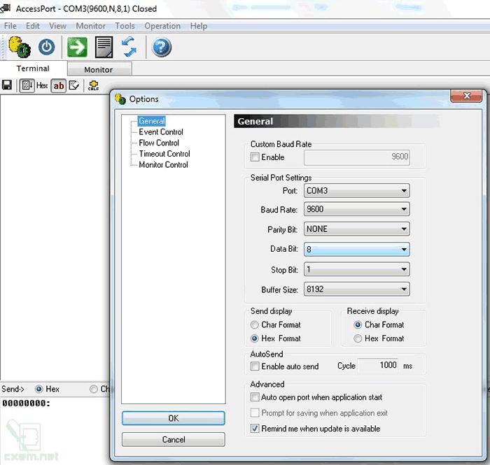 Настройки в AccessPort
