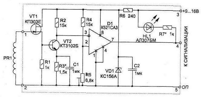 электромагнитному датчику