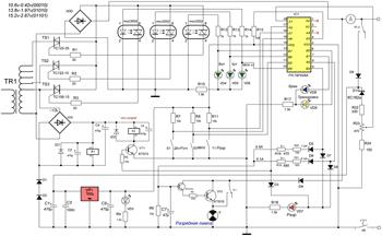 Принципиальная схема автоматического зарядного устройства
