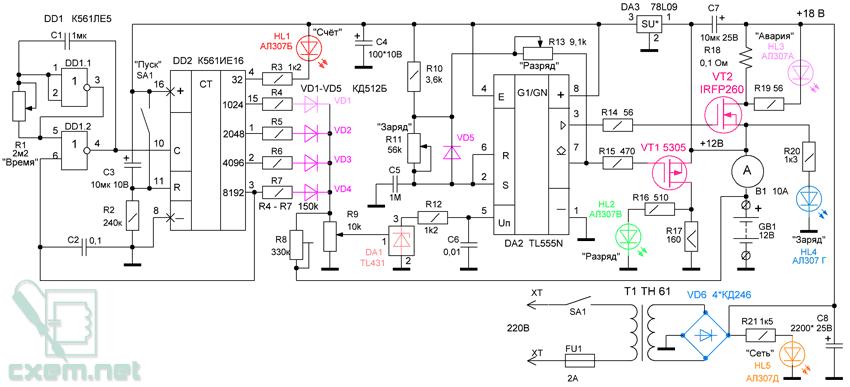 Электронная схема устройства