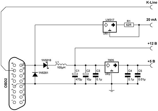 Принципиальная схема бортового компьютера фото 727