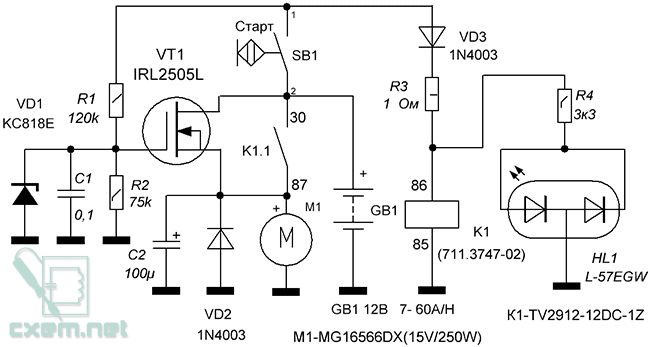 Полевой транзистор после