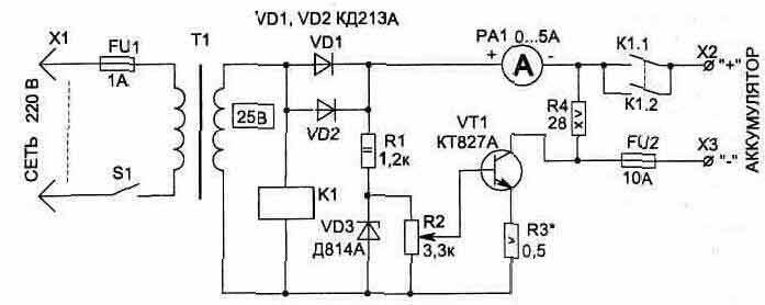 ...схема заряда (заряд с фиксированным ... назначение ЗУ - зарядно-пусковые (пуско-зарядные) устройства или.
