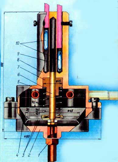 Конструкция датчика расходомера топлива для автомобиля
