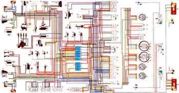 Схема электропроводки ВАЗ 2121 Нива