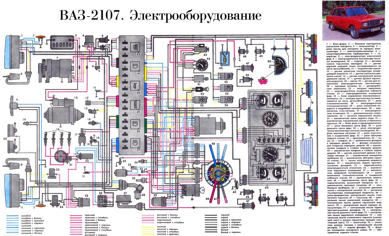 В часности нужна схема на ваз 2107(инжектор) предлагаю выложить здесь схемы монтажных блоков Отечественных...