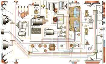 Схема электропроводки Москвич М-412