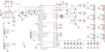 Схема НЧ анализатора спектра для анализа данных автомобильной подвески