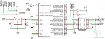 Схема автомобильного контроллера подсветки приборной панели на AVR-микроконтроллере