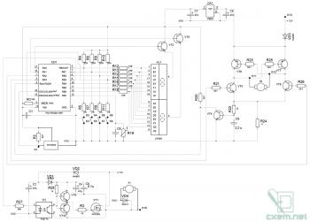 Схема простого блока управления отопителем ВАЗ-2110 на микроконтроллере PIC