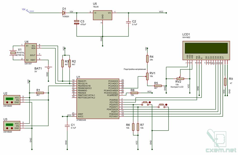 Схема бортового компьютера