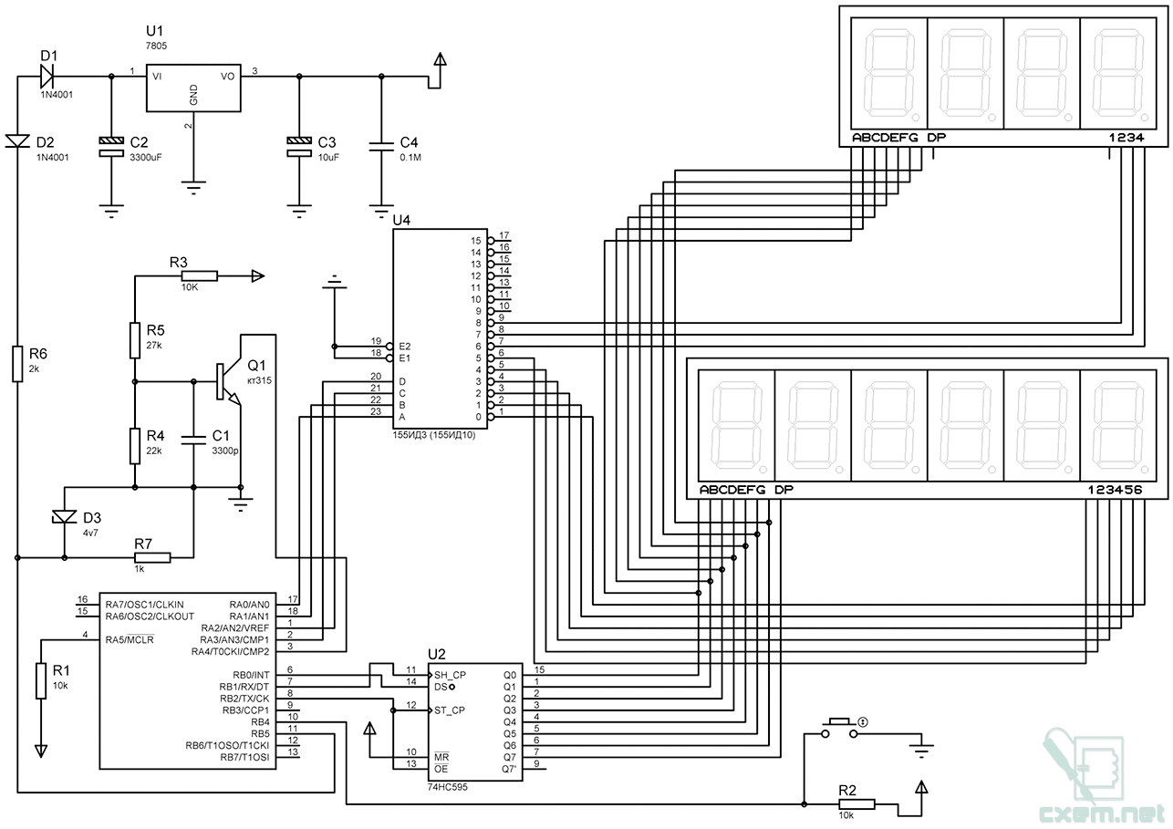 lc метр схема pic16f628a
