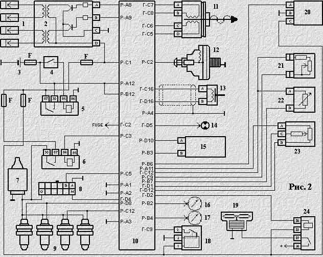 Электрическая схема ваз 2110 инжектор k Скачать архивы, а.