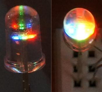Свечение RGB-светодиода