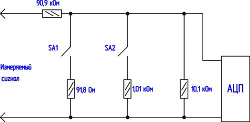 параллельно резистору 10,1