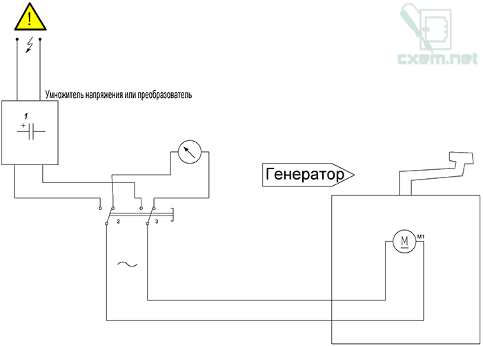 Схема механического генератора