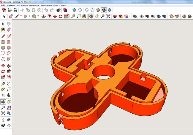 Корпус разработанный в 3D редакторе SketchUP