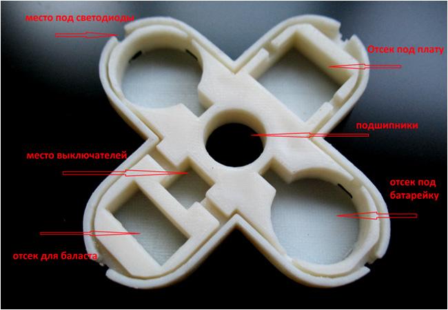 Распечатанный корпус( ABS пластик)
