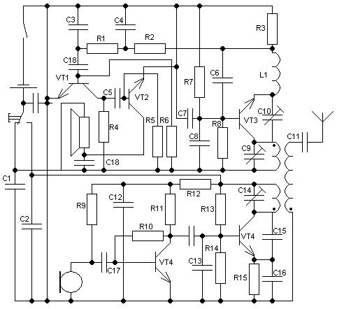 Схема простейшая рация