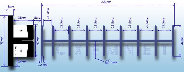 Устройство и размеры Wi-Fi антенны