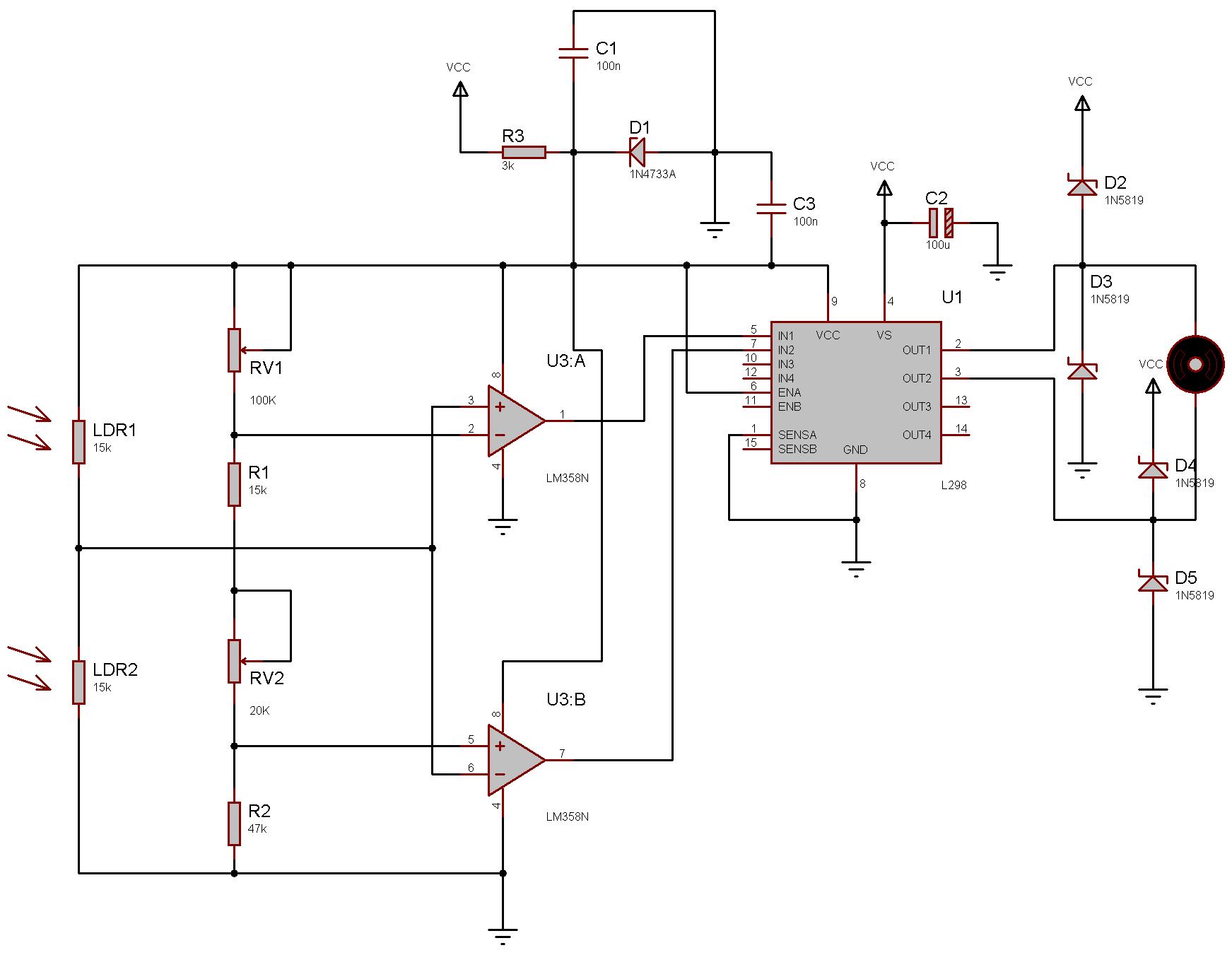 схема электронного сатфайндера