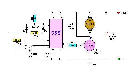 Универсальный драйвер двигателя постоянного тока на L298