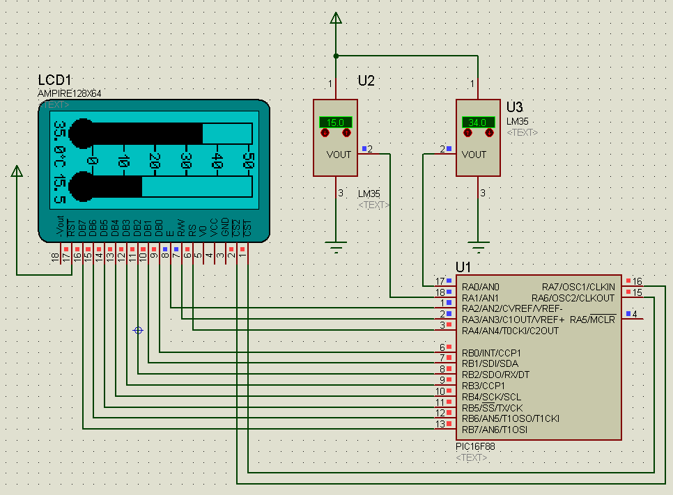 Исходный код для LCD-термометра написан при помощи компилятора CCS C. В архиве вы найдете файл для протеуса и...