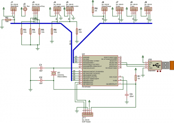 Схема USB джойстика