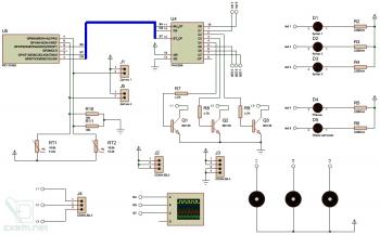 Схема устройства управления для охлаждающей подставки для ноутбука