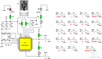 Проект HID клавиатуры на микроконтроллере