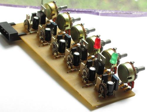 Простой 6-ти канальный регулятор оборотов вентилятора.
