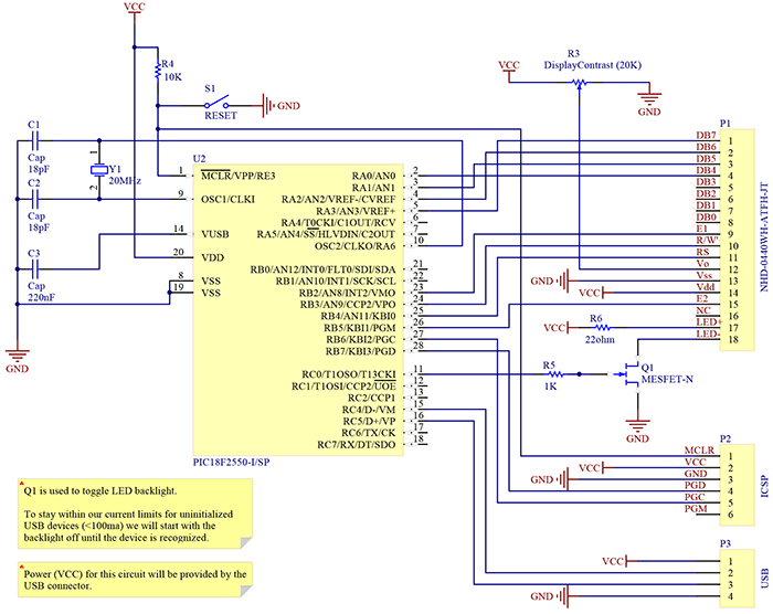 Принципиальная схема устройства для мониторинга параметров ПК