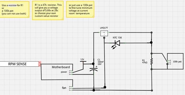 Схема PC FAN