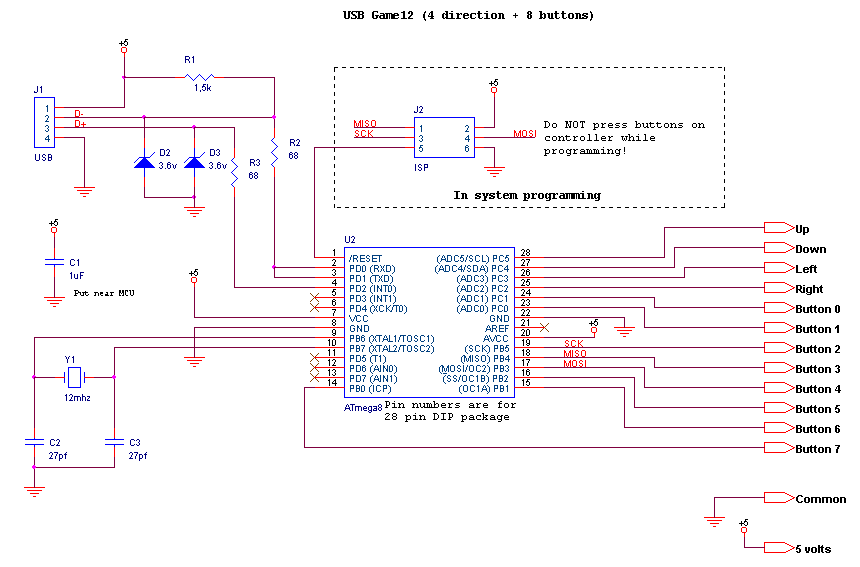 Джойстик для пк usb схема