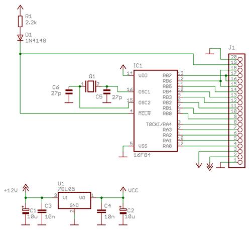 Пример схемы в Eagle